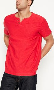 Big And Tall Red Notch Neck T Shirt