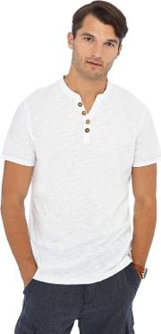 Big And Tall White Y Neck T Shirt