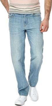 Blue Light Wash Straight Fit Jeans