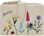 Cream Floral Embroidered Purse