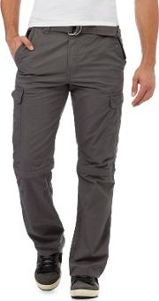 Dark Grey Zip Off Cargo Trousers