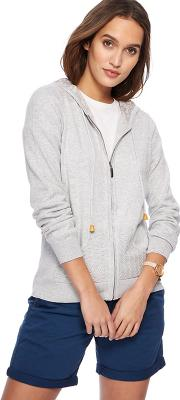 Grey Knitted Hooded Cardigan