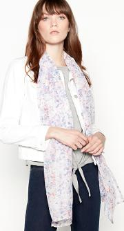 Ivory Floral Ditsy Print Scarf