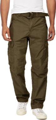 Khaki Cargo Zip Off Leg Trousers