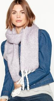 Lilac Brushed Woven Scarf