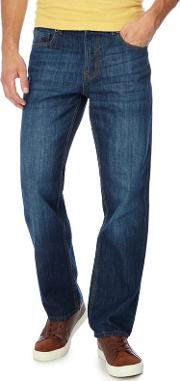 Mid Blue Light Wash Loose Fit Jeans