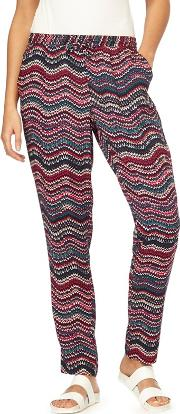 Multicoloured Ripple Tapered Trousers