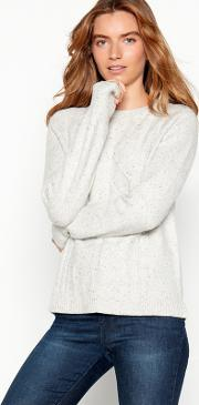 Natural Cable Nep Knit Jumper