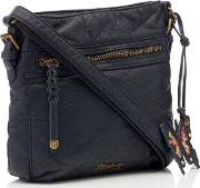Navy Washed Cross Body Bag