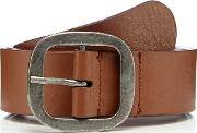 Tan Buckled Leather Belt