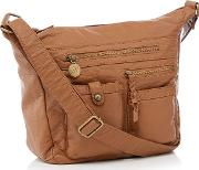 Tan Multi Pocket Hobo Bag