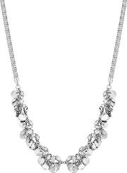 Mw By  Silver Crystal And Coin Cluster Shaker Necklace
