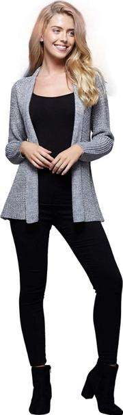 London Silver Weaved Knitted Cardigan
