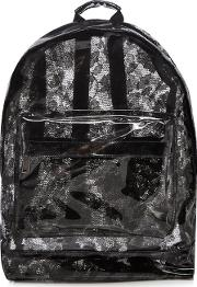 Black Transparent Lace Backpack