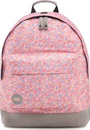 Pink Sprinkles Print Backpack