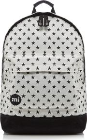 White all Star Zipped Backpack