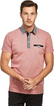 Rose Oxford Jersey Short Sleeve Polo Shirt