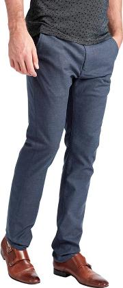Slim Tapered Stretch Cotton Chino Long Length