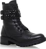 Black sax Low Heel Ankle Boot