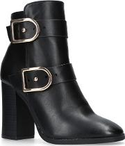 Black 'spring' High Heel Ankle Boots