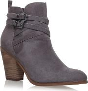 Grey spike High Heel Ankle Boots