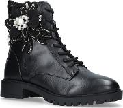 Seren Ankle Boots With Floral Embellishments