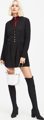 Black Pearl Button Playsuit