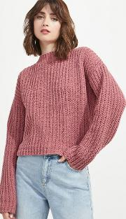 Chenille Tie Back Knitted Jumper