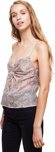 Gold Glitter Twisted Camisole Top