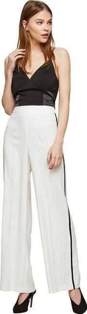 Ivory Side Striped Trousers