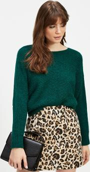 Multi Coloured Leopard Print Jacquard Mini Skirt