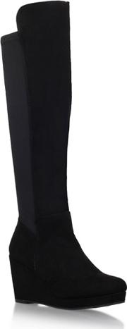 Miss Kg Black harley2 Mid Heel Over The Knee Boots