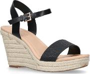 Miss Kg Black paulina Mid Heel Wedge Sandals