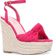 Miss Kg Pink piper High Heel Wedge Sandals