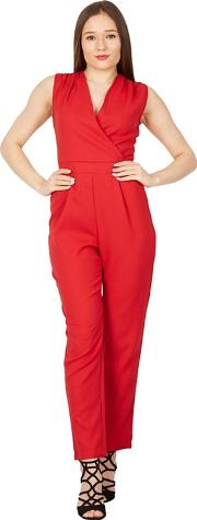 Red Cross Front Tailored Jumpsuit