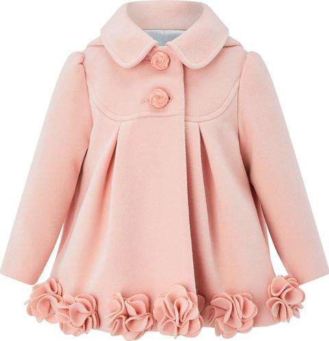 4fa5aed1b monsoon Baby Girls Pink ellie Roses Coat
