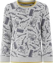 Boys Grey eddy Music Jumper