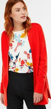 Red elouise Edge To Edge Cardigan