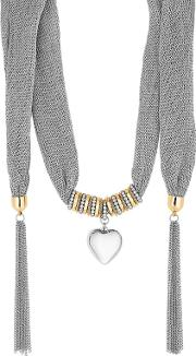 Heart Charm Scarf Necklace