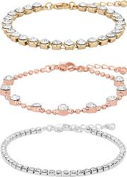 Mixed Plate Clear Multipack Toggle Bracelet