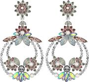 Pastel Crystal Statement Earrings
