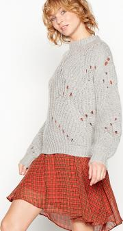 Grey Chunky Knit fiolina Jumper