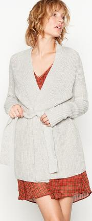 Light Grey senona Knitted Cardigan