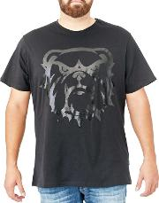 Big And Tall Black Bulldog Graphic T Shirt