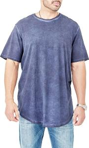 Big And Tall Navy Curved Hem T Shirt