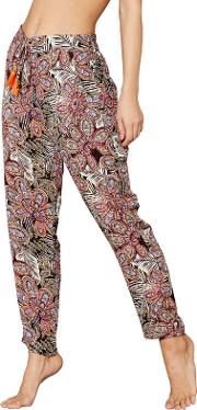 Multi Coloured Floral Printed Trousers
