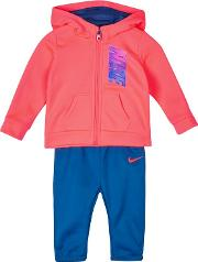 Baby Girls Pink And Blue therma Hoodie And Jogging Bottoms Set