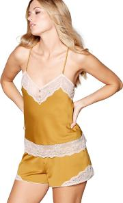 Yellow Lace Trimmed Camisole