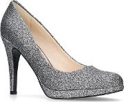 Pewter wiseup High Heel Court Shoes