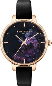 Ted Baker Ladies Black kate Mother Of Pearl Analogue Leather Strap Watch Te50005021